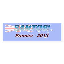 Santos for PM! Car Sticker