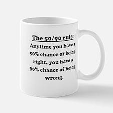 The 50/90 Rule Small Mug