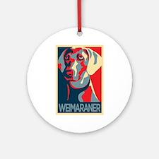 The Regal Weimaraner Ornament (Round)
