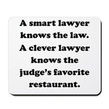 A Clever Lawyer Mousepad