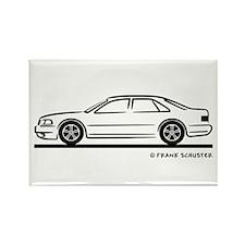Audi A8 Rectangle Magnet