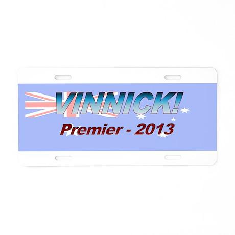 Vinnick for PM! Aluminum License Plate