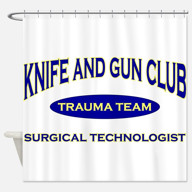 KNIFE & GUN ST BLUE.png Shower Curtain