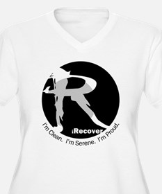 iRecover - Clean. Serene. Proud Plus Size T-Shirt