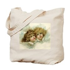 Vintage Victorian Christmas Angels in Heaven Tote