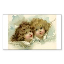 Vintage Victorian Christmas Angels in Heaven Stick