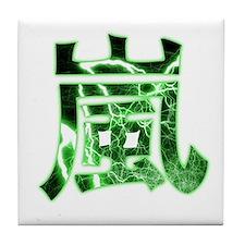 Storm in Pure Kanji Green Edi Tile Coaster