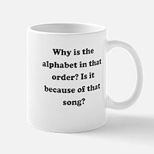 Alphabetical Order Small Mug