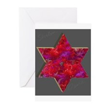 Jewish Star Chanukah Cards (Pack of 6)