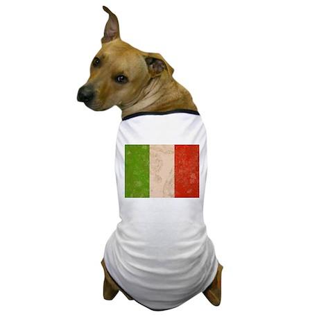 Vintage Italian Flag Dog T-Shirt