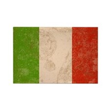 Vintage Italian Flag Rectangle Magnet