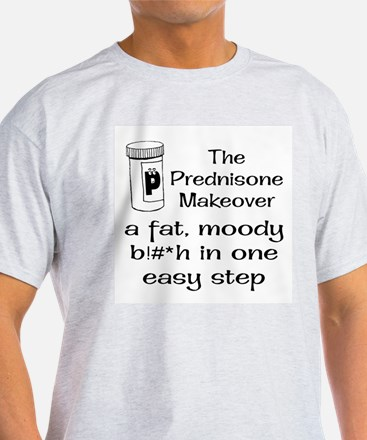 Prednisone Make Over Ash Grey T-Shirt