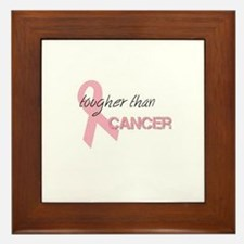 Tougher than Cancer Framed Tile