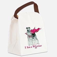 Schnauzer Warrior Canvas Lunch Bag