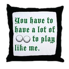 A Lot of Balls Throw Pillow