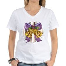 Christmas Cartoon Jingle Bells with a Bow T-Shirt