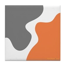 Modern Tangerine Steal Tile Coaster