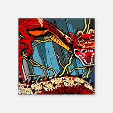 Red Dragon Lightning Sticker