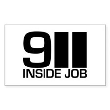 911 Inside Job Rectangle Decal
