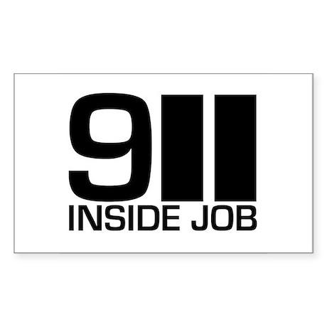 911 Inside Job Rectangle Sticker