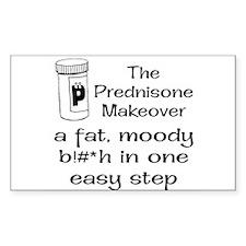 Prednisone Make Over Rectangle Decal
