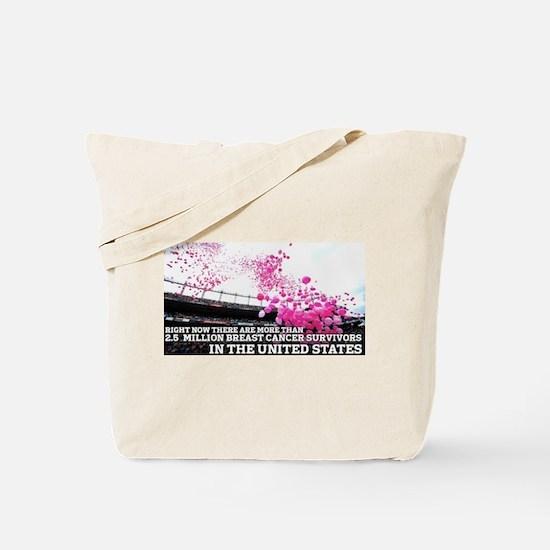 Over 2 Million Breast Cancer Survivors Tote Bag