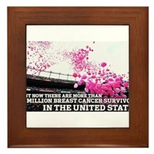 Over 2 Million Breast Cancer Survivors Framed Tile
