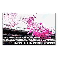 Over 2 Million Breast Cancer Survivors Decal