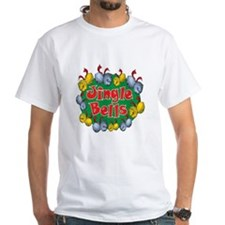 Christmas Cartoon Jingle Bells Text Design T-Shirt