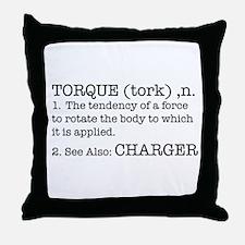 Torque - Charger Throw Pillow