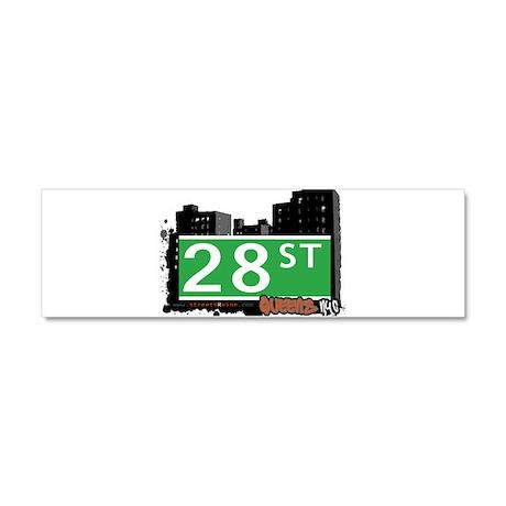 28 STREET, QUEENS, NYC Car Magnet 10 x 3