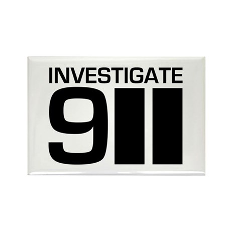 Investigate 911 Rectangle Magnet (100 pack)