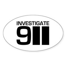 Investigate 911 Oval Decal