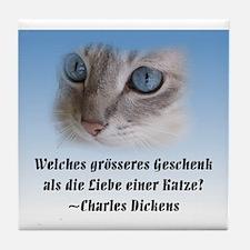 Kitten Dickens Tile Coaster