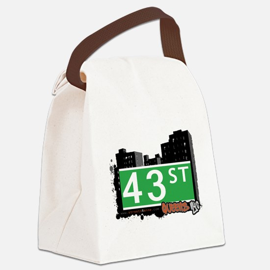 43 STREET, QUEENS, NYC Canvas Lunch Bag