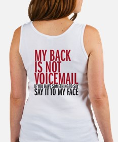 My back is not voicemail Women's Tank Top