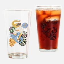 Celtic Afor Aquarius Mermaid Drinking Glass