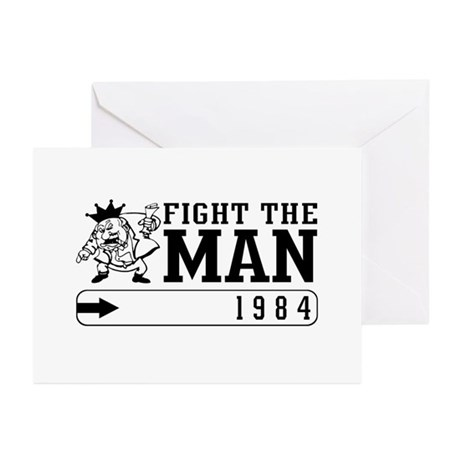 Fight the MAN Greeting Cards (Pk of 10)