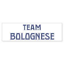 Team Bolognese Bumper Bumper Sticker