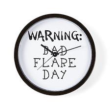 Warning: Bad Flare Day! Wall Clock