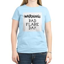 Warning: Bad Flare Day! Women's Pink T-Shirt