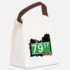 79 STREET, QUEENS, NYC Canvas Lunch Bag