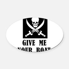 pirate4.png Oval Car Magnet
