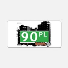 90 PLACE, QUEENS, NYC Aluminum License Plate