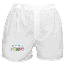 Grampa of Twins Blocks Boxer Shorts