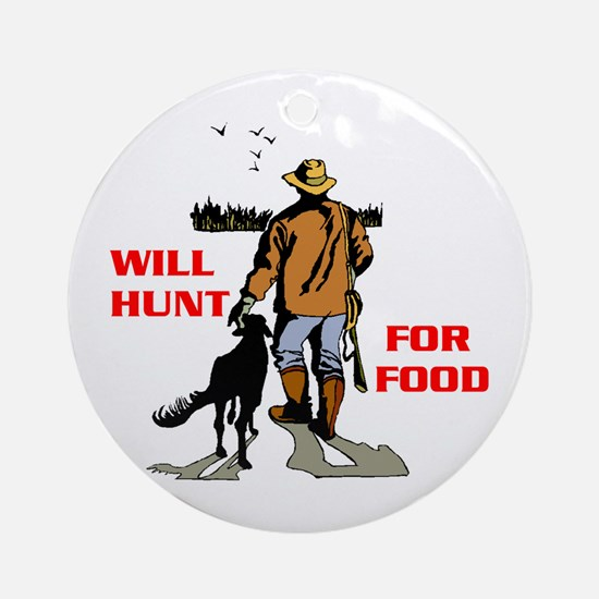 HUNT FOR FOOD Ornament (Round)