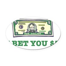 bet5.png Oval Car Magnet