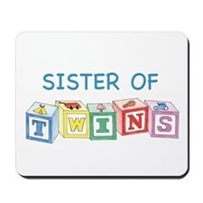 Sister of Twins Blocks Mousepad