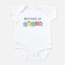 Brother of Twins Blocks Infant Bodysuit