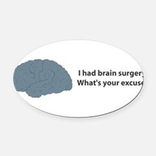 brain7.png Oval Car Magnet